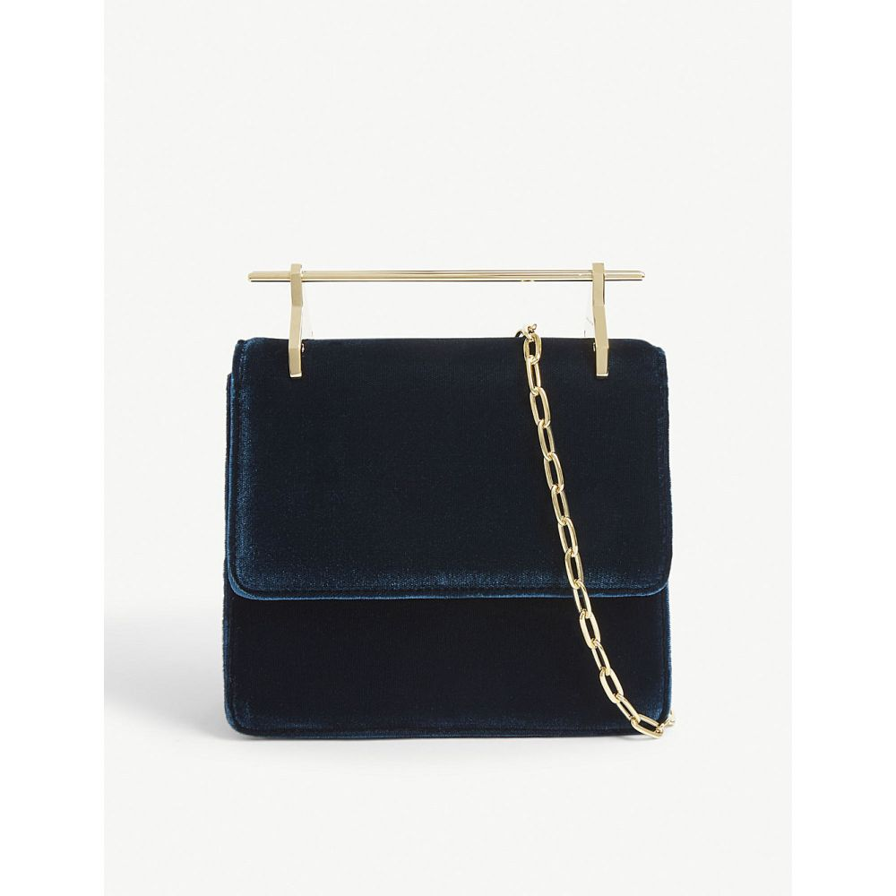 エムツーマレティエ m2malletier レディース バッグ ハンドバッグ【mini collectionneuse velvet shoulder bag】Petrol blue gold