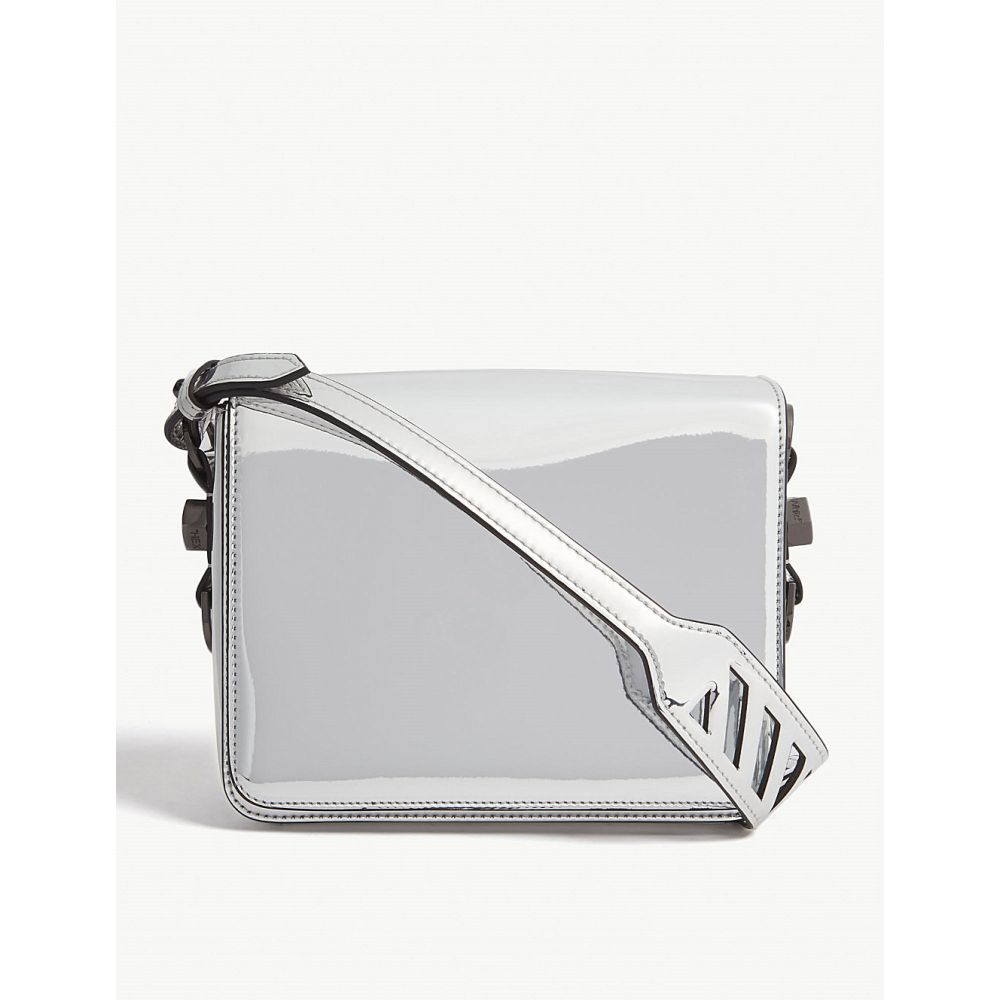 オフホワイト off-white c/o virgil abloh レディース バッグ ショルダーバッグ【mirror binder clip shoulder bag】Silver