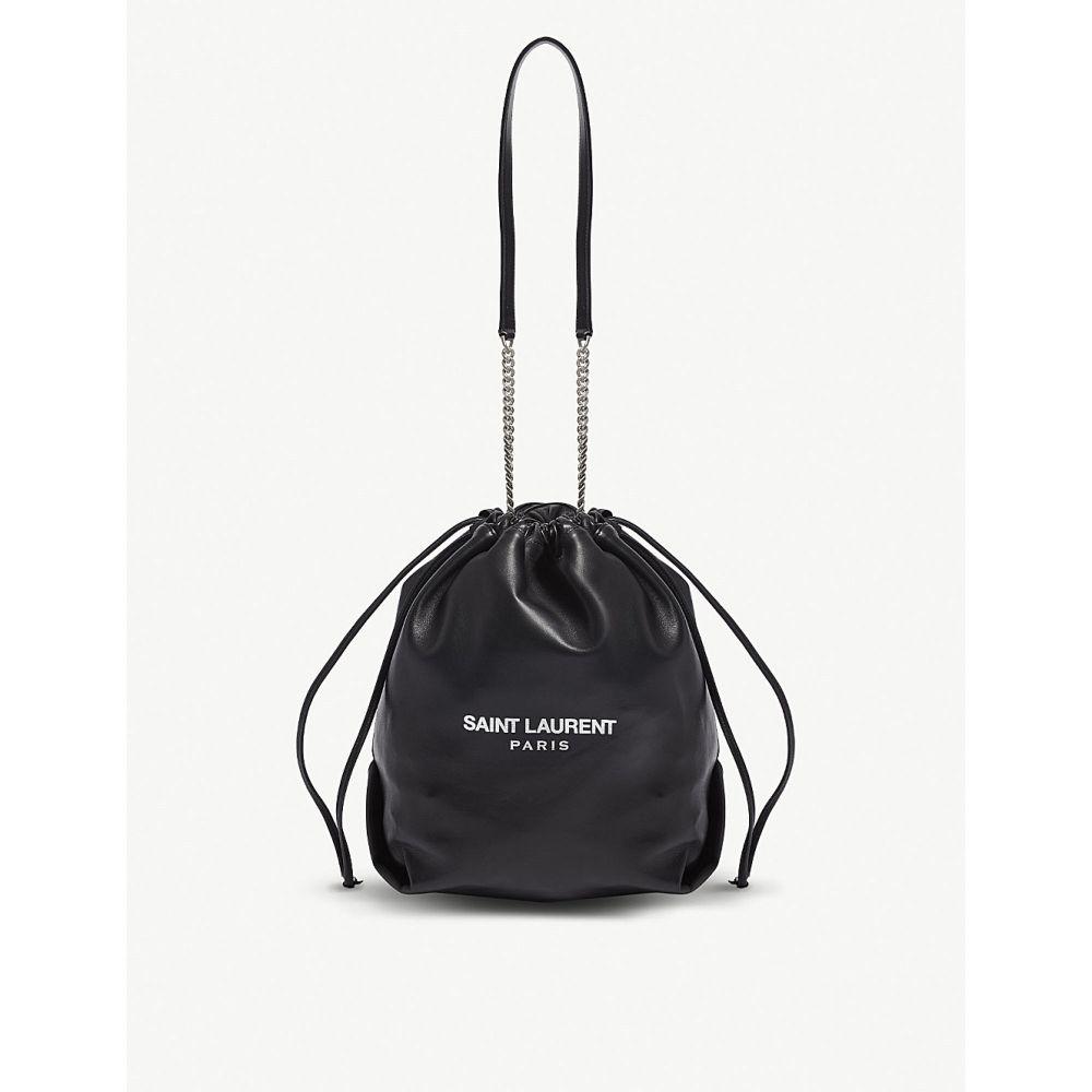 イヴ サンローラン saint laurent レディース バッグ ハンドバッグ【teddy leather bucket bag】Black