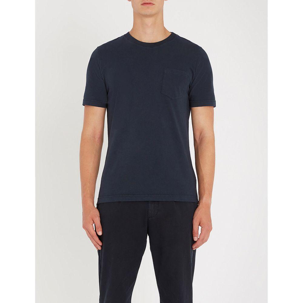 イレブンティ eleventy メンズ トップス Tシャツ【patch pocket cotton-jersey t-shirt】Navy