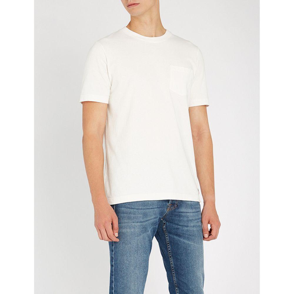イレブンティ eleventy メンズ トップス Tシャツ【patch pocket cotton-jersey t-shirt】White
