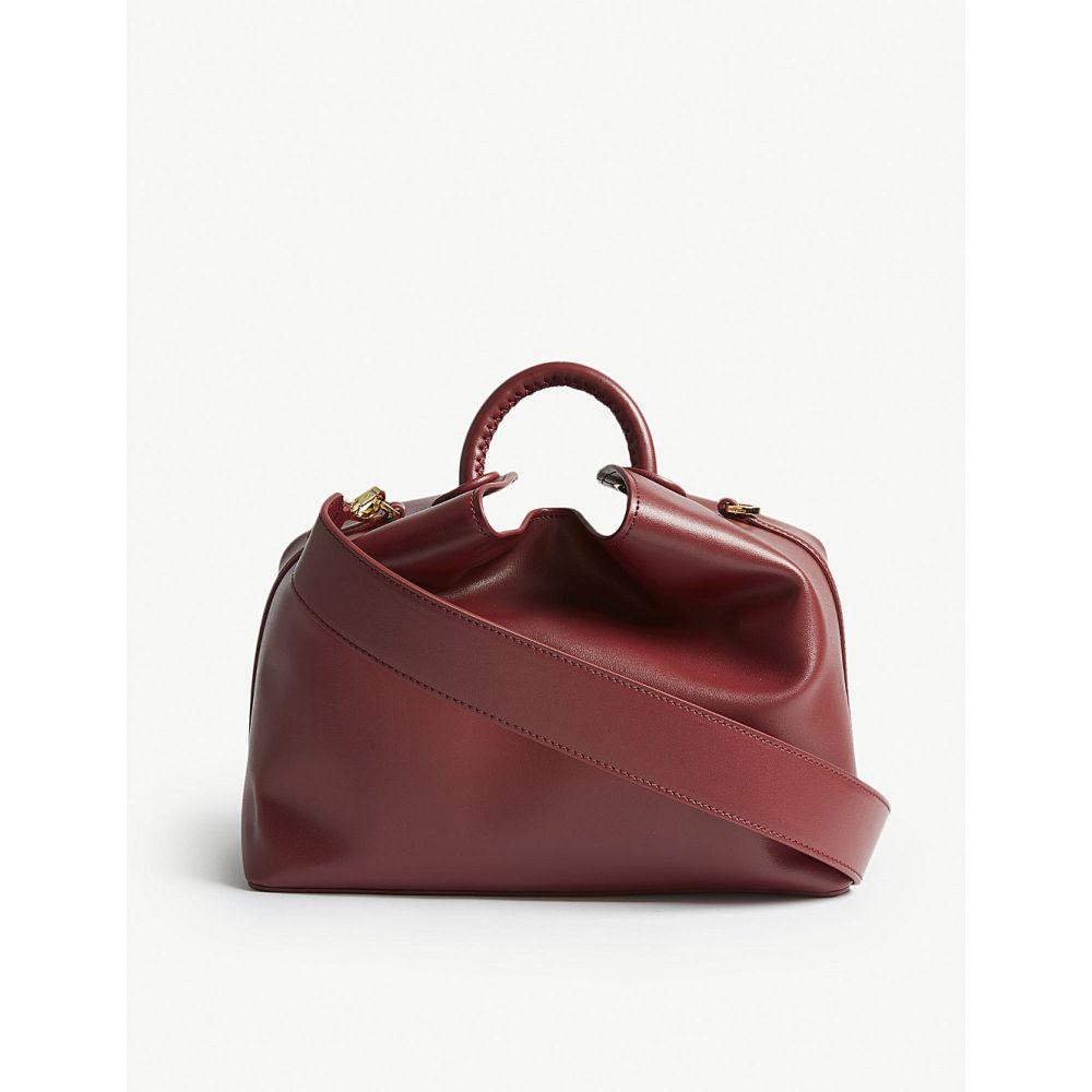 エルメ elleme レディース バッグ ハンドバッグ【raisin leather shoulder bag】Red prune/red prune