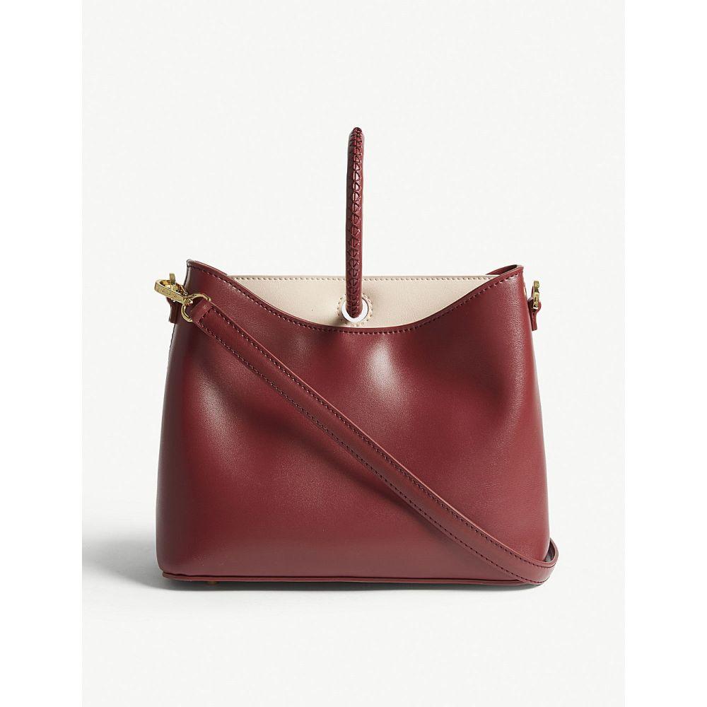 エルメ elleme レディース バッグ ハンドバッグ【simone leather shoulder bag】Red prune/pink