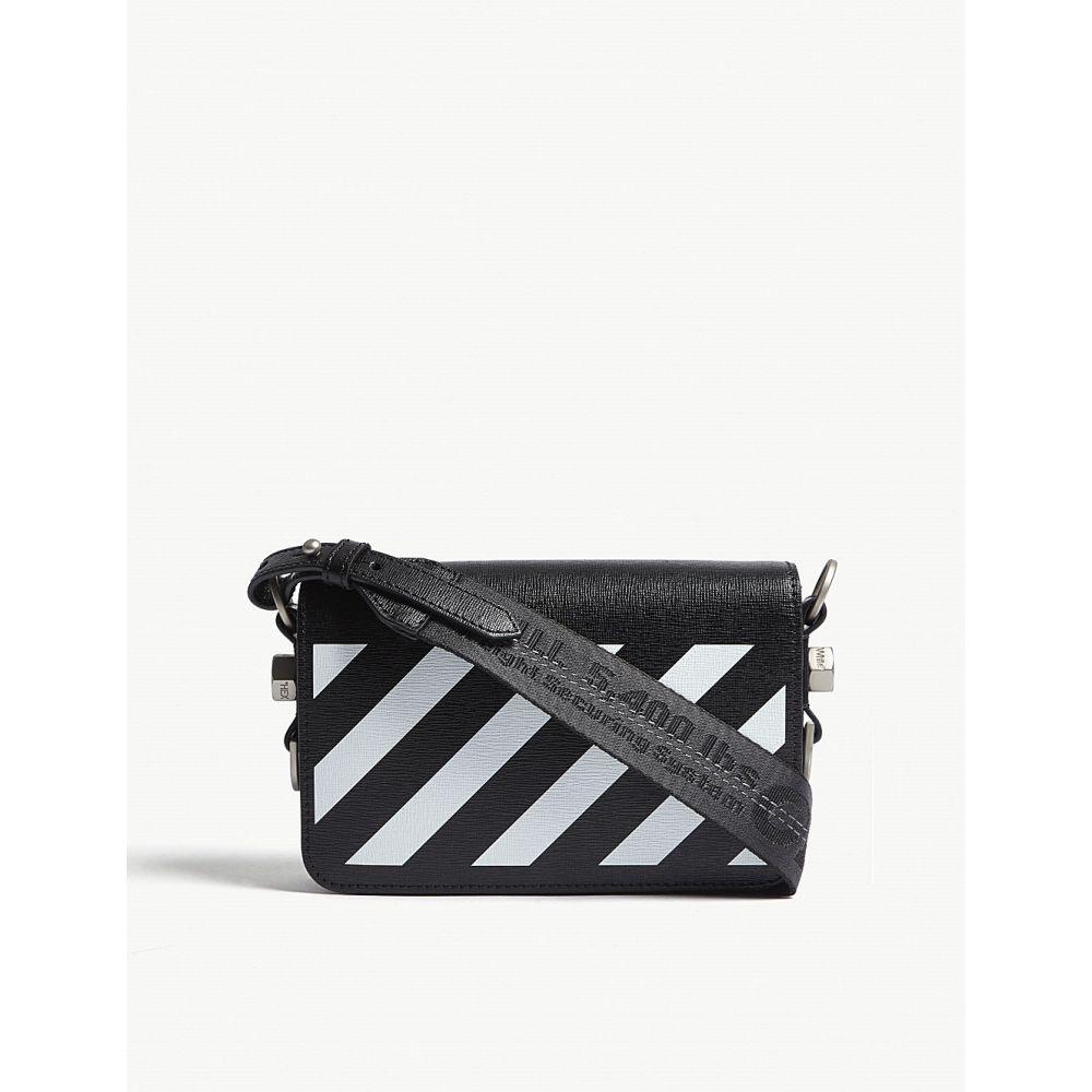 オフホワイト off-white c/o virgil abloh レディース バッグ ショルダーバッグ【diagonal-stripe leather cross-body bag】Blk white