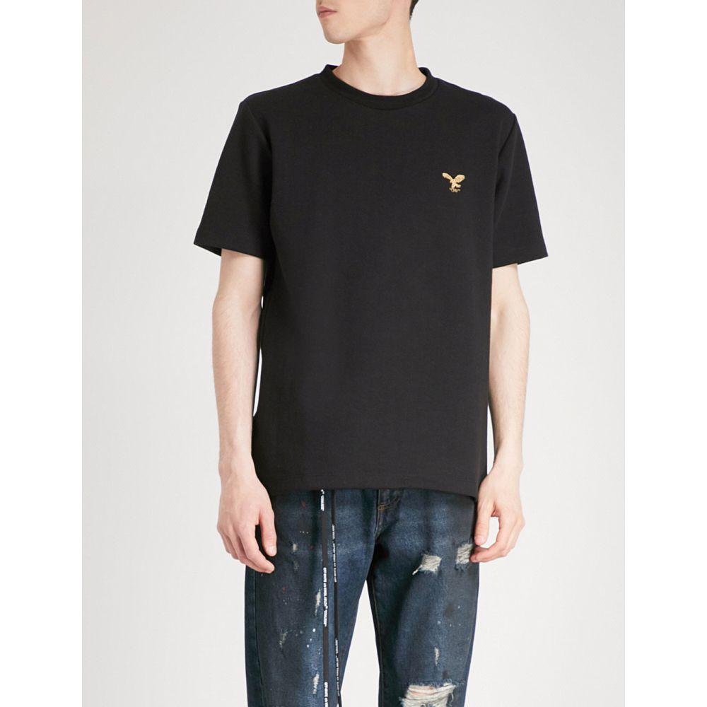 オフホワイト off-white c/o virgil abloh メンズ トップス Tシャツ【eagle logo cotton-jersey t-shirt】Black
