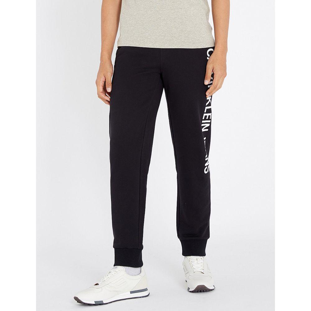 カルバンクライン calvin klein jeans メンズ ボトムス・パンツ【institutional logo-print cotton-jersey jogging bottoms】Ck black