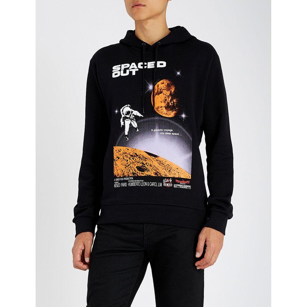 ケンゾー kenzo メンズ トップス パーカー【spaced out printed cotton-jersey hoody】Black