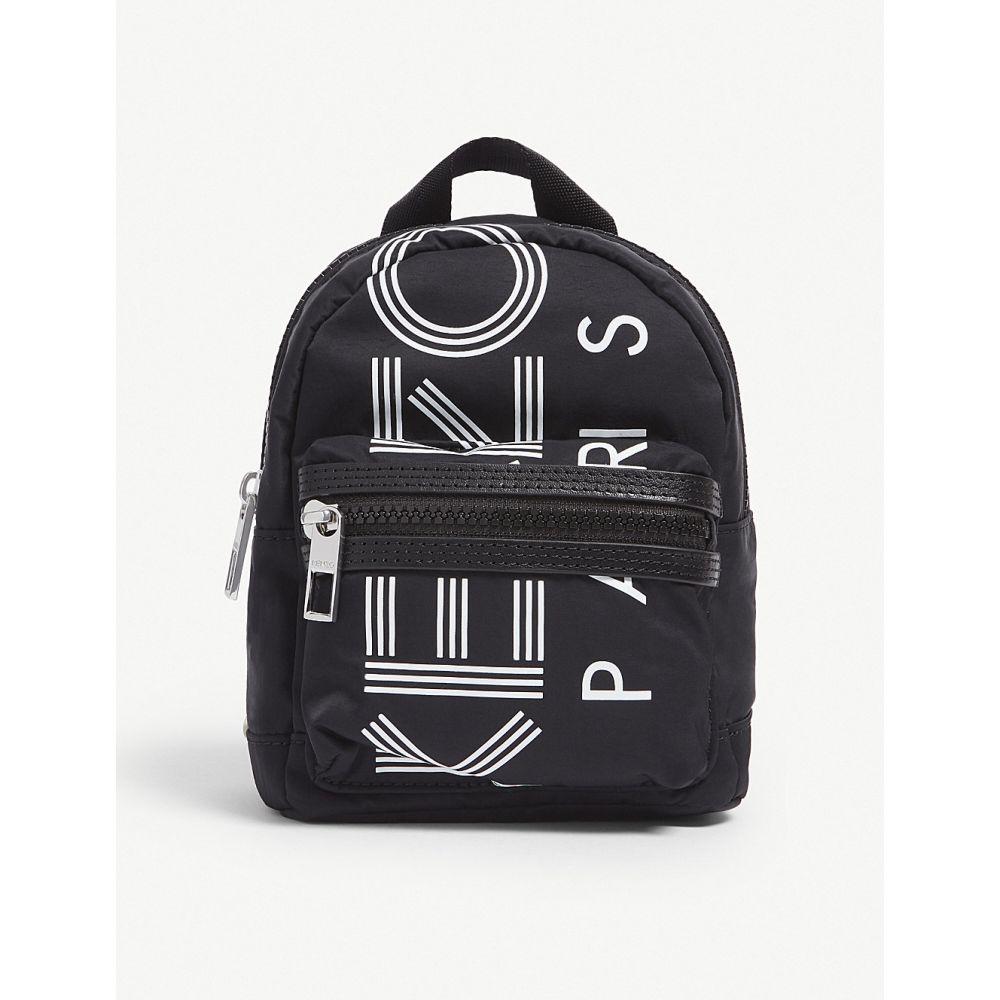 ケンゾー kenzo レディース バッグ バックパック・リュック【logo nylon mini backpack】Black