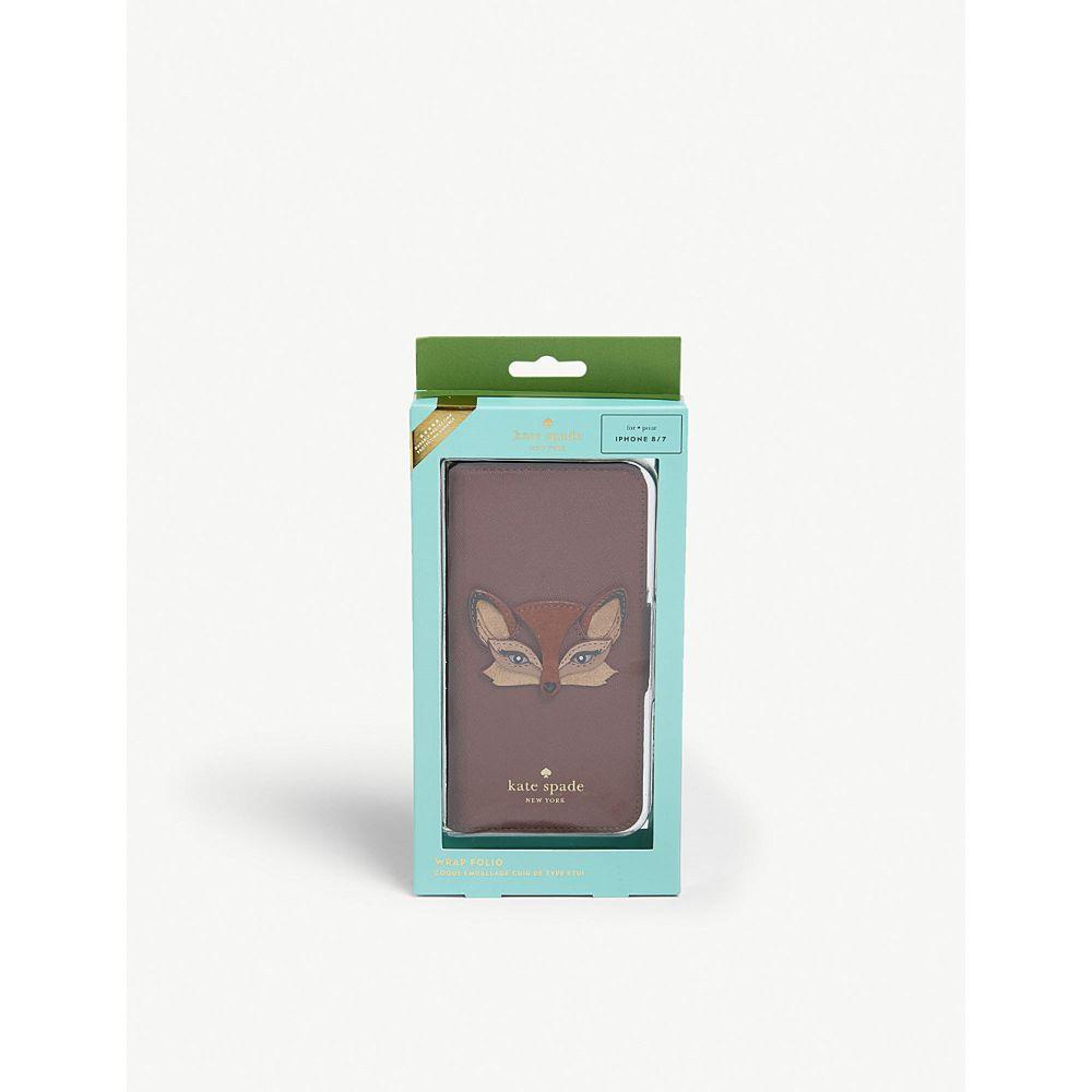 ケイト スペード kate spade new york レディース iPhone (8)ケース【fox iphone 8 folio case】Multi