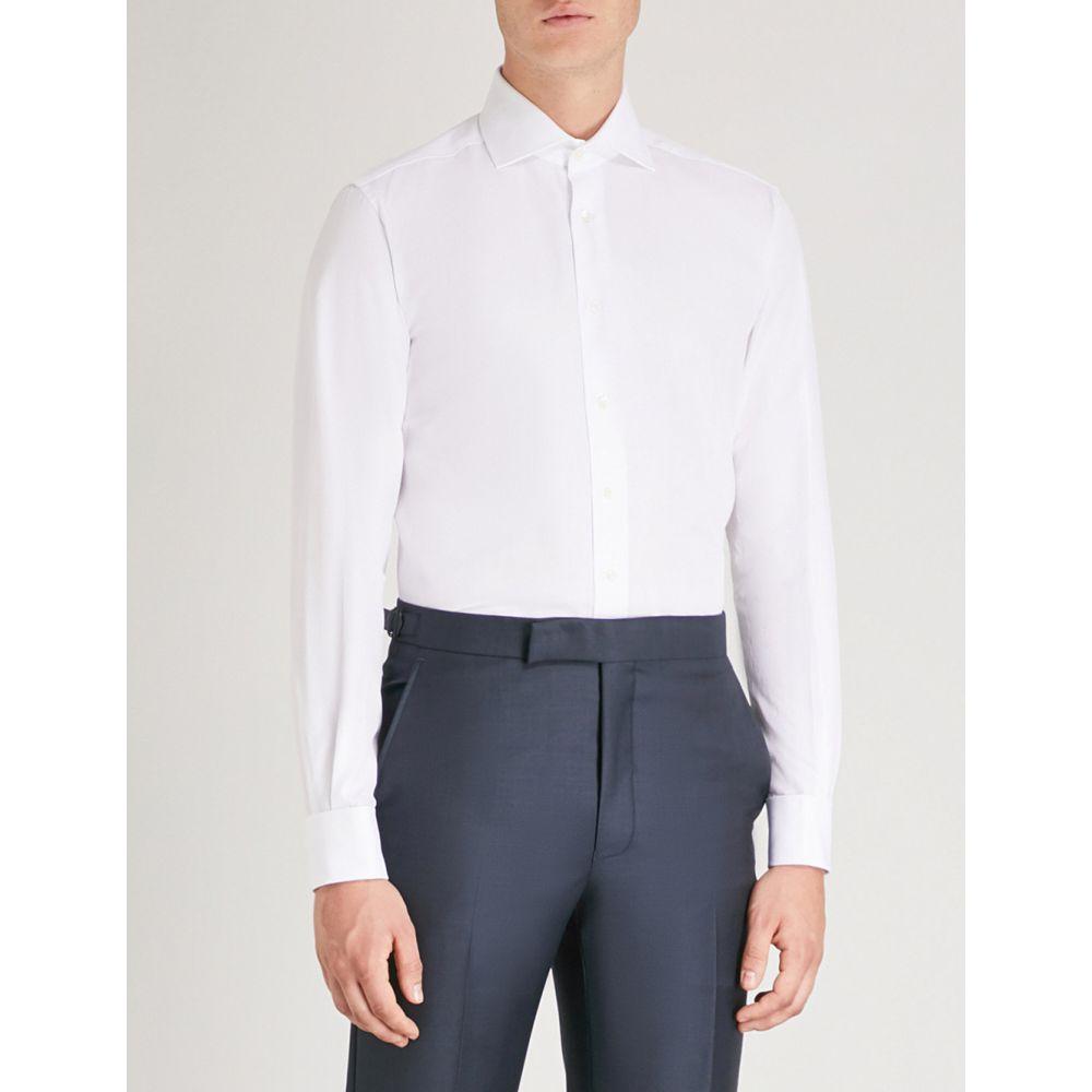 コルネリアーニ corneliani メンズ トップス シャツ【regular-fit cotton-twill shirt】White
