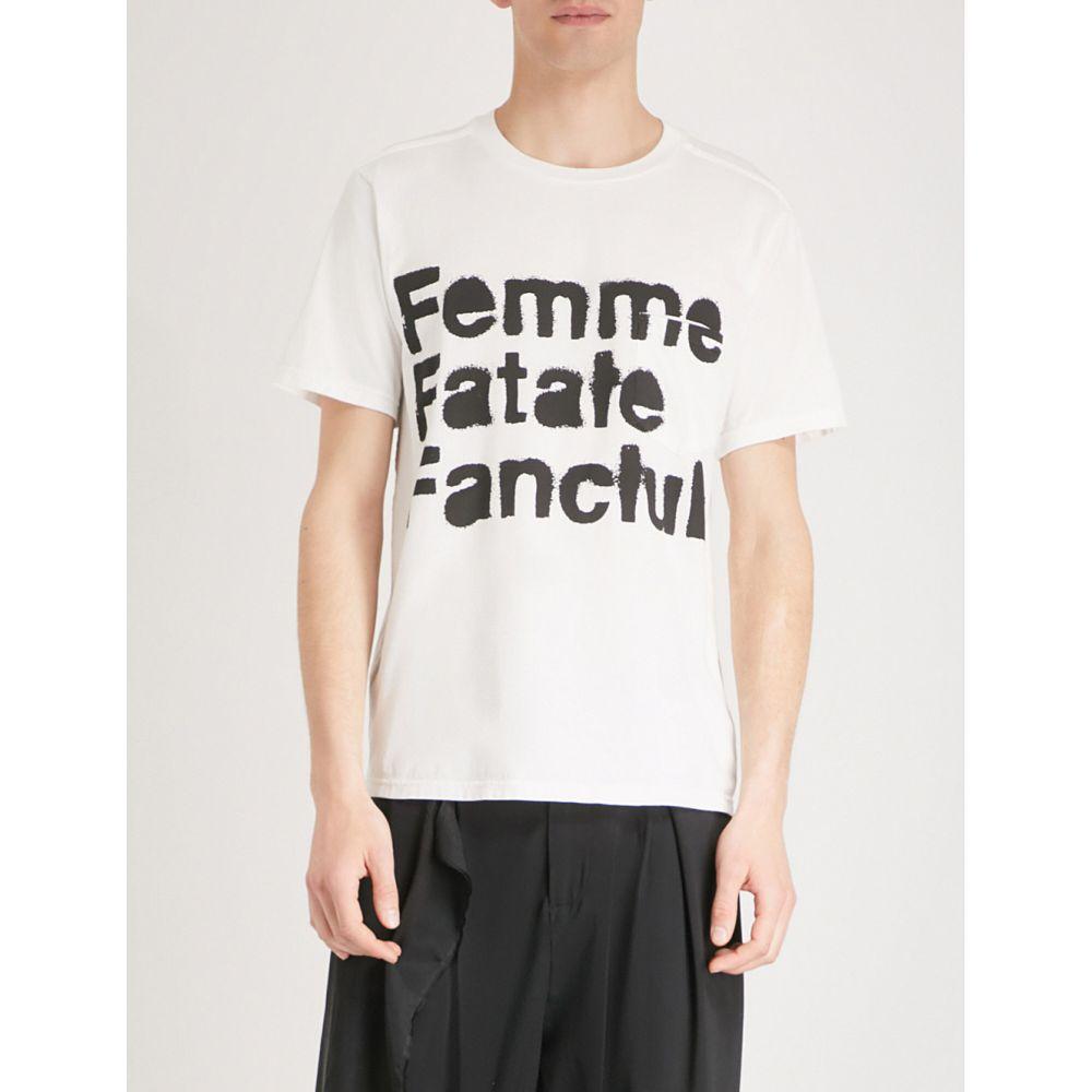 ザ ソリスト the soloist メンズ トップス Tシャツ【femme fatale-print cotton-jersey t-shirt】White