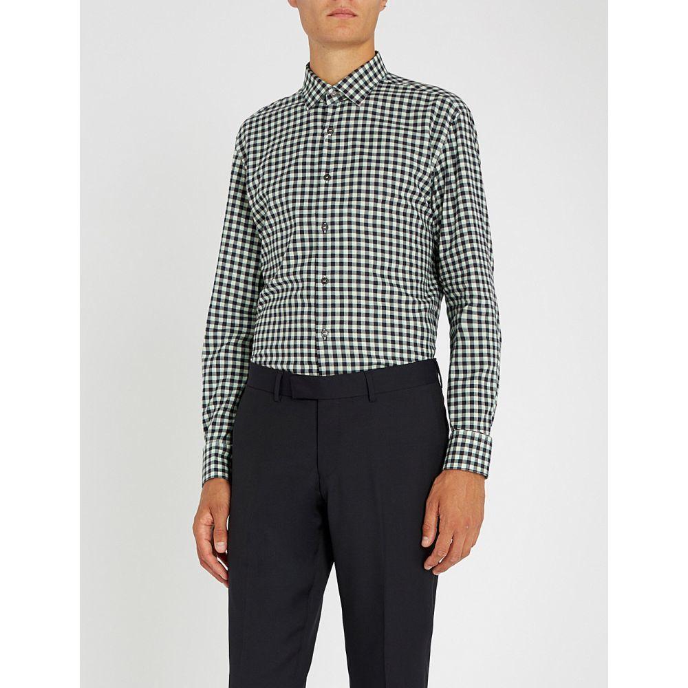サルヴァトーレ フェラガモ salvatore ferragamo メンズ トップス シャツ【gingham regular-fit cotton-twill shirt】Multi