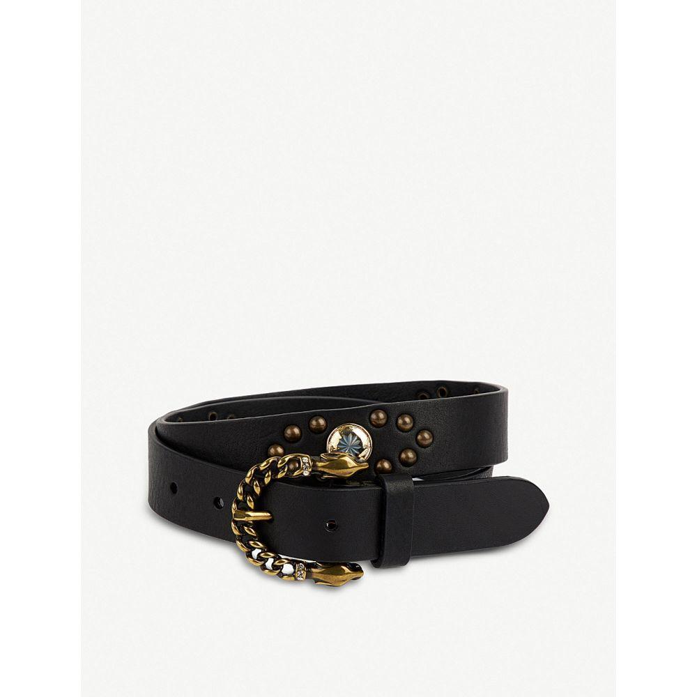 ザディグ エ ヴォルテール zadig & voltaire レディース ベルト【fauve leather belt】Noir