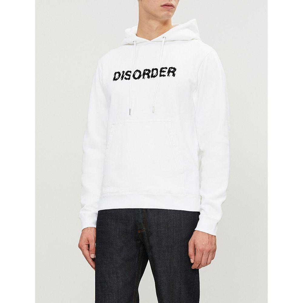 サンドロ sandro メンズ トップス パーカー【disorder cotton-jersey hoody】White