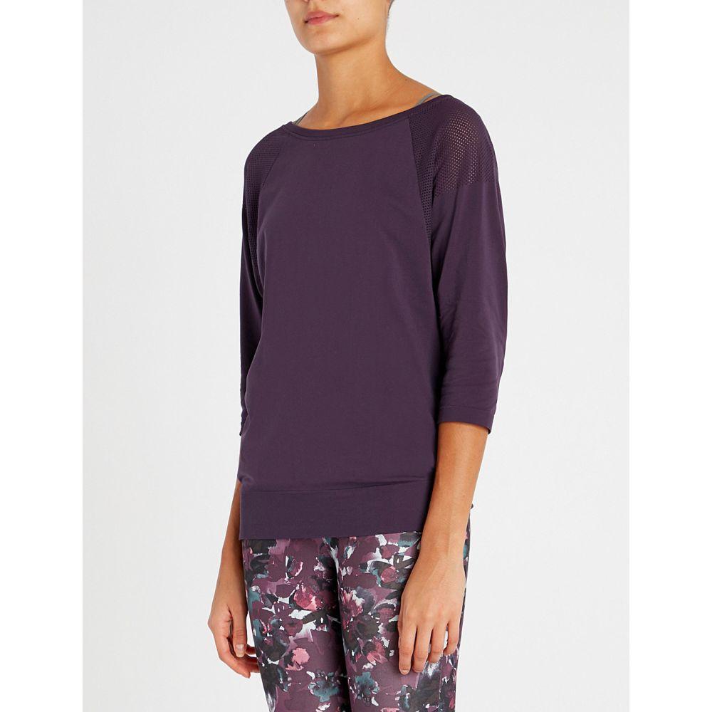 スウェッティベティ sweaty betty レディース ヨガ・ピラティス トップス【dharana jersey yoga top】Purple