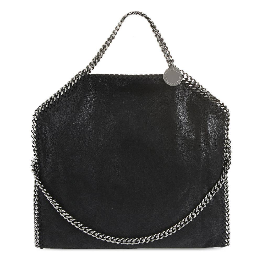 ステラ マッカートニー stella mccartney レディース バッグ トートバッグ【falabella faux-leather tote bag】Black