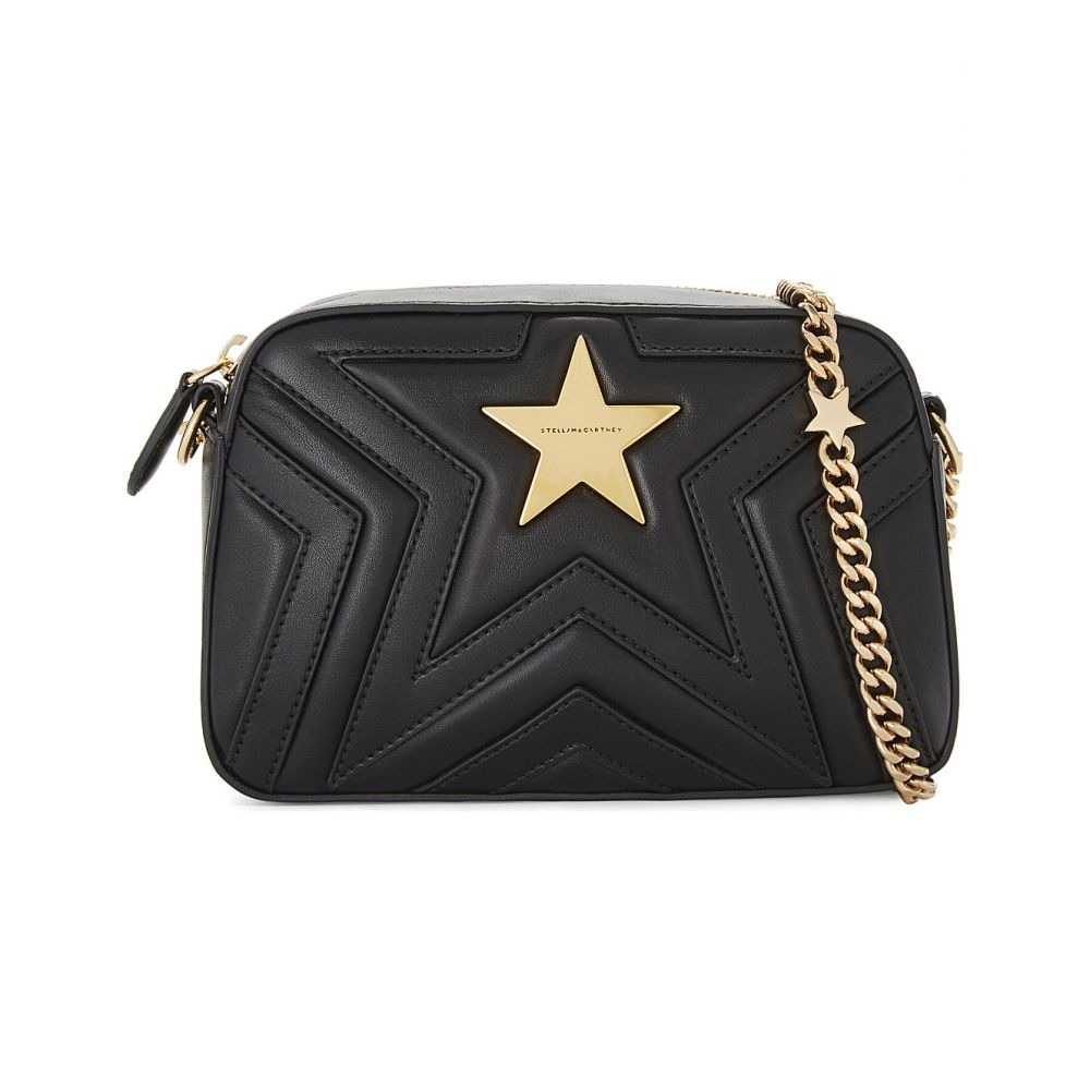 ステラ マッカートニー stella mccartney レディース バッグ【star faux-leather cross-body camera bag】Black