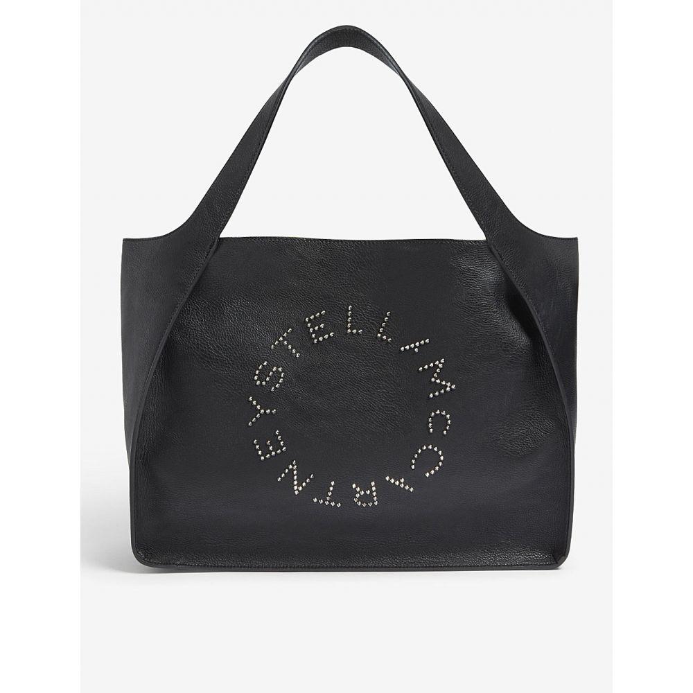 ステラ マッカートニー stella mccartney レディース バッグ ショルダーバッグ【logo faux-leather shoulder bag】Black