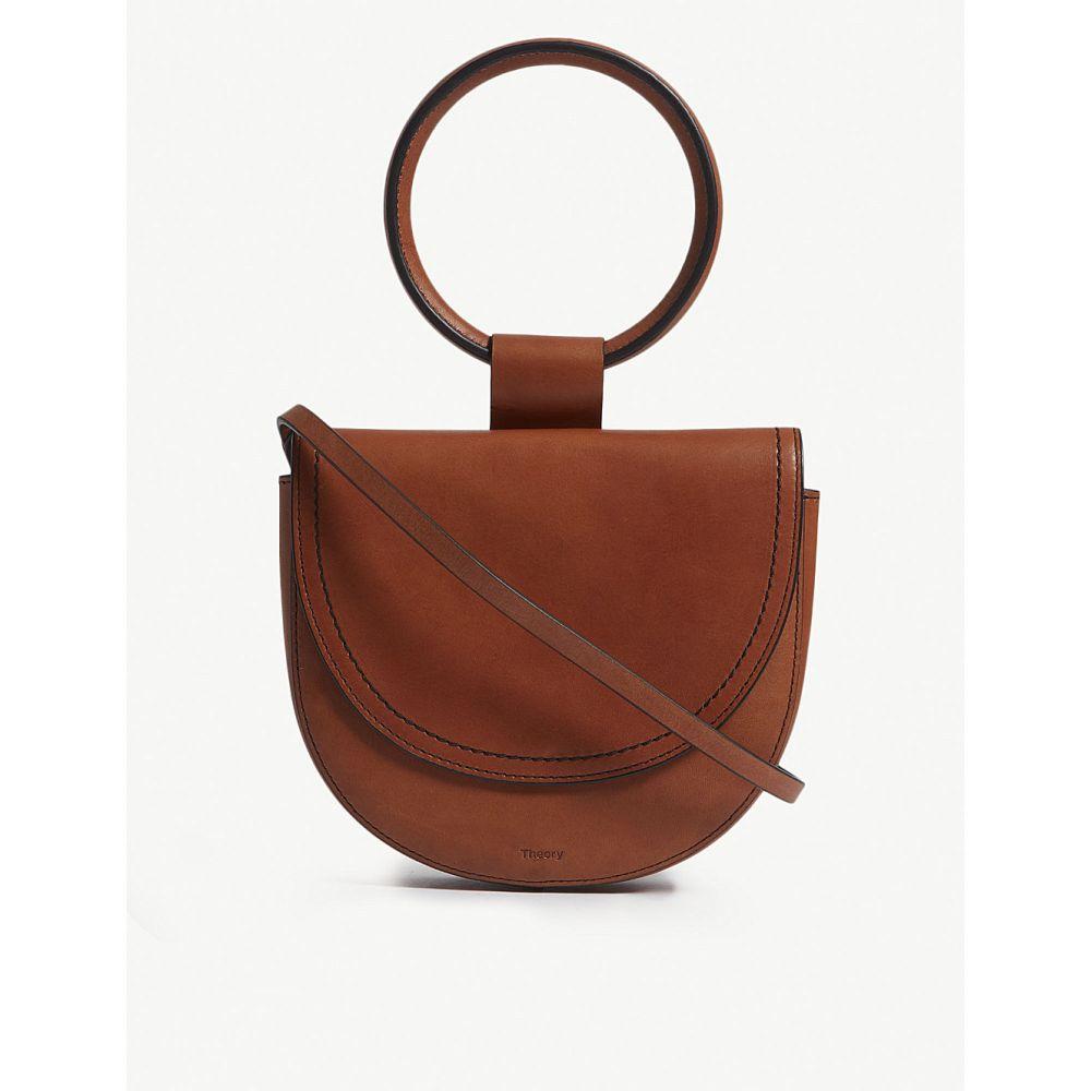 セオリー theory レディース バッグ ハンドバッグ【leather whitney saddle bag】Ambra