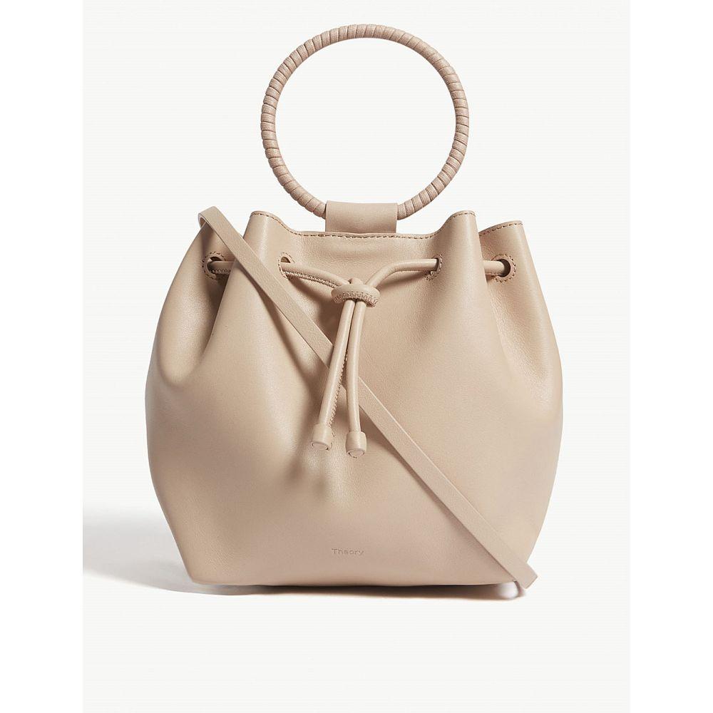 セオリー theory レディース バッグ ハンドバッグ【leather hoop handle shoulder bag】Stone pink