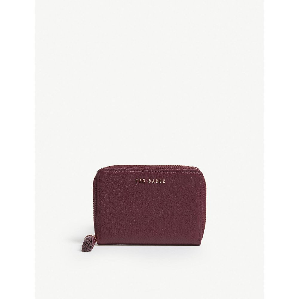 テッドベーカー ted baker レディース 財布【sabel small grained leather purse】Maroon