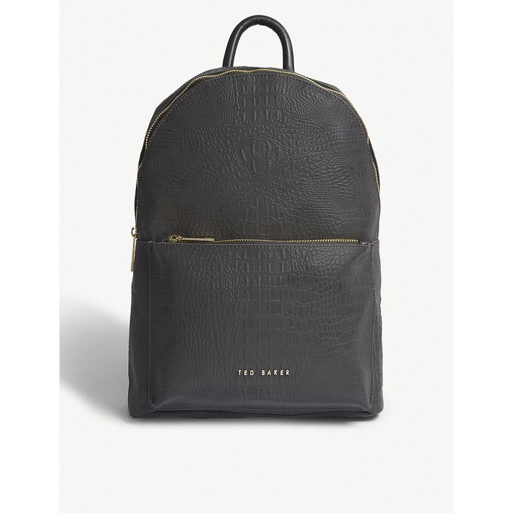 テッドベーカー ted baker レディース バッグ バックパック・リュック【croc-embossed backpack】Black