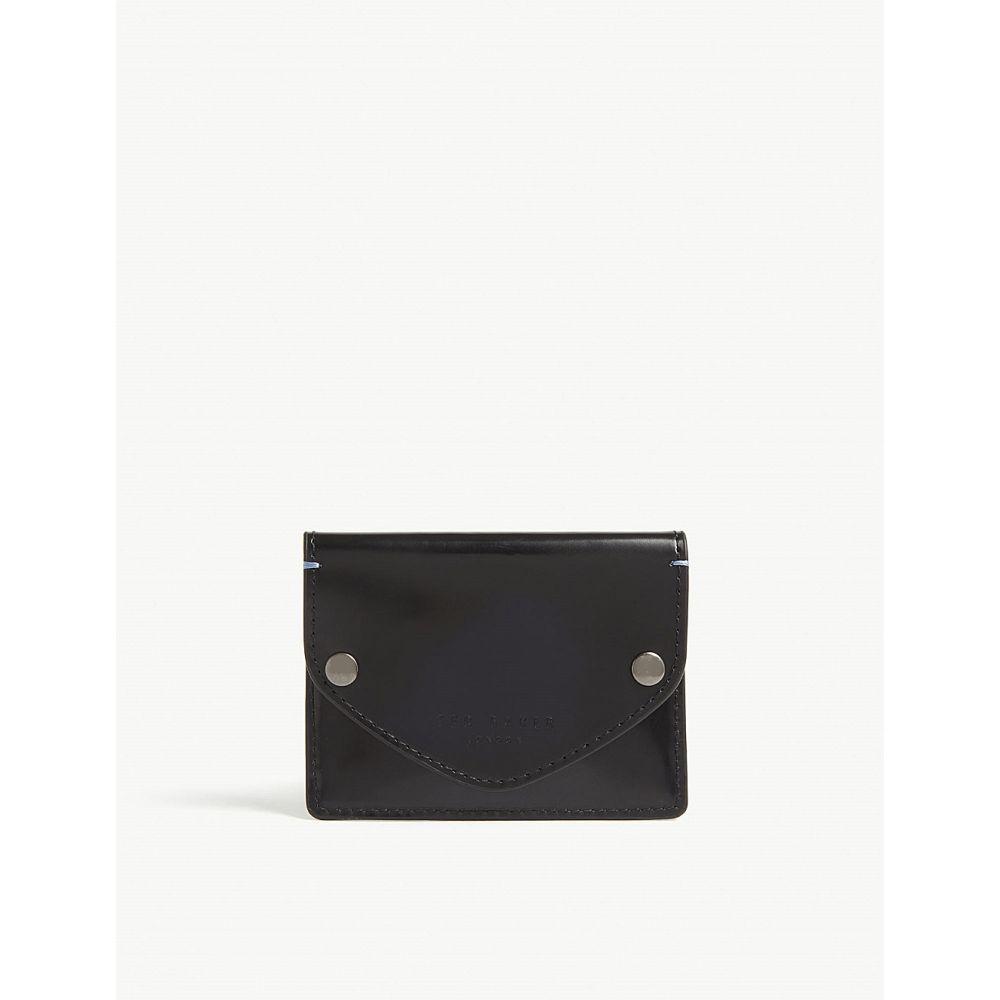 テッドベーカー ted baker メンズ カードケース・名刺入れ【batter burnished leather card holder】Navy