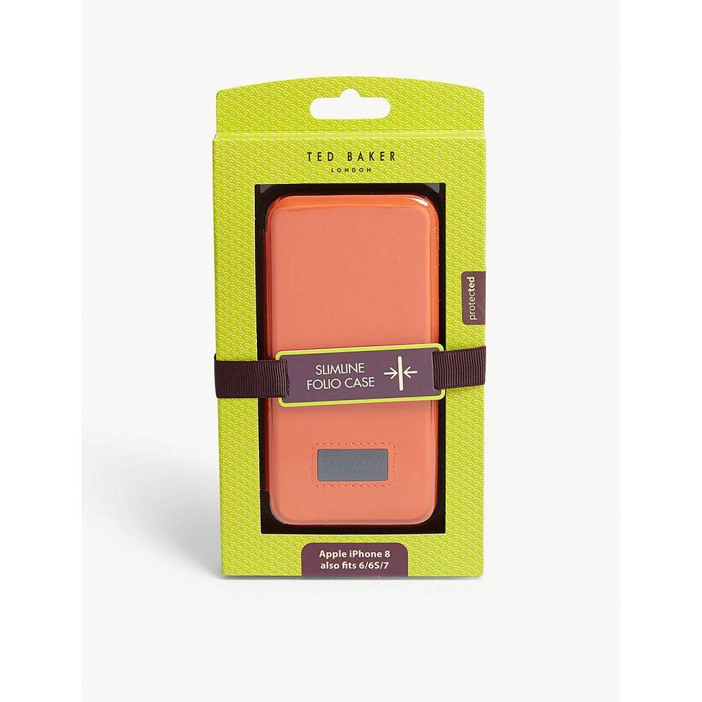 テッドベーカー ted baker メンズ iPhoneケース【tettra rubber iphone flip case】Orange