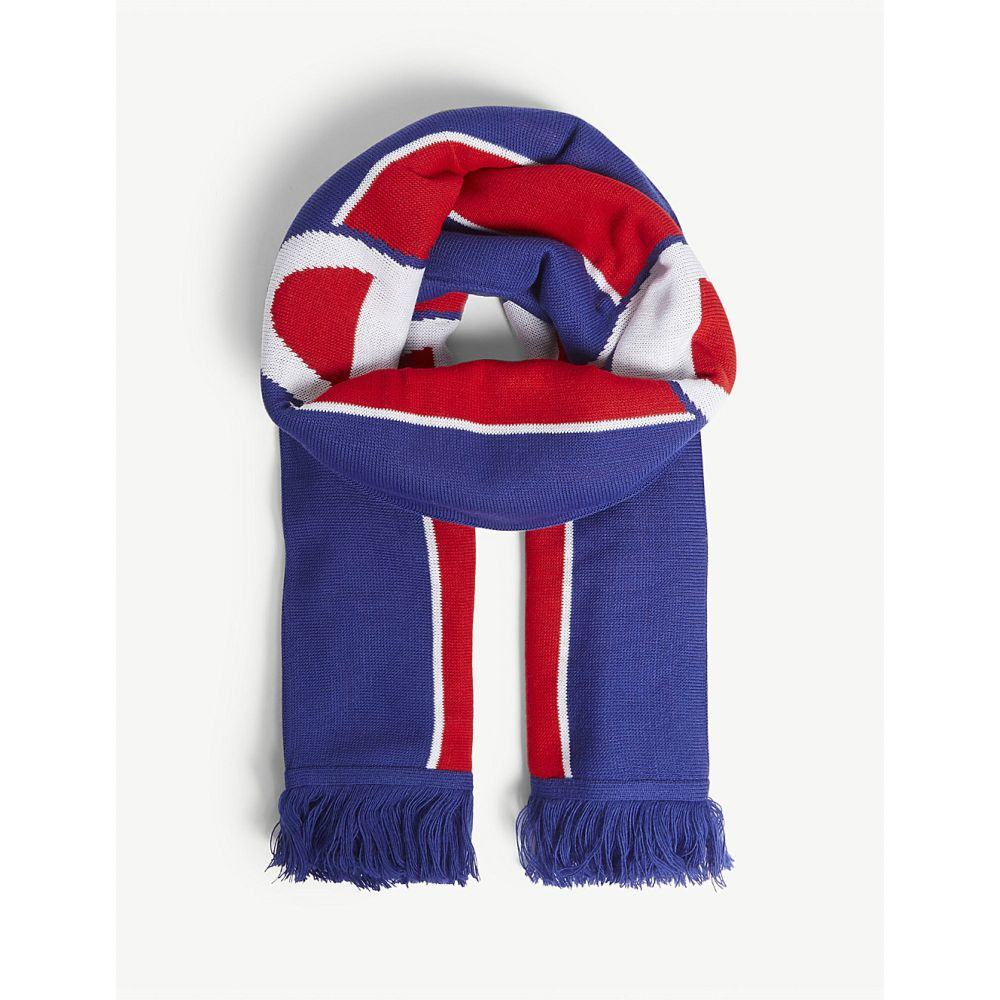 チャンピオン champion メンズ マフラー・スカーフ・ストール【logo stripe knitted scarf】Red blue wht