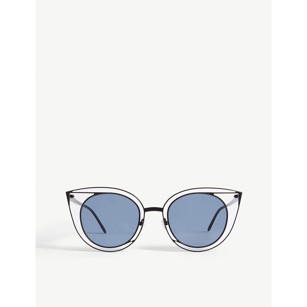 ティエリー ラスリー thierry lasry レディース メガネ・サングラス【08o000160 morphology cat-eye sunglasses】Blue dark