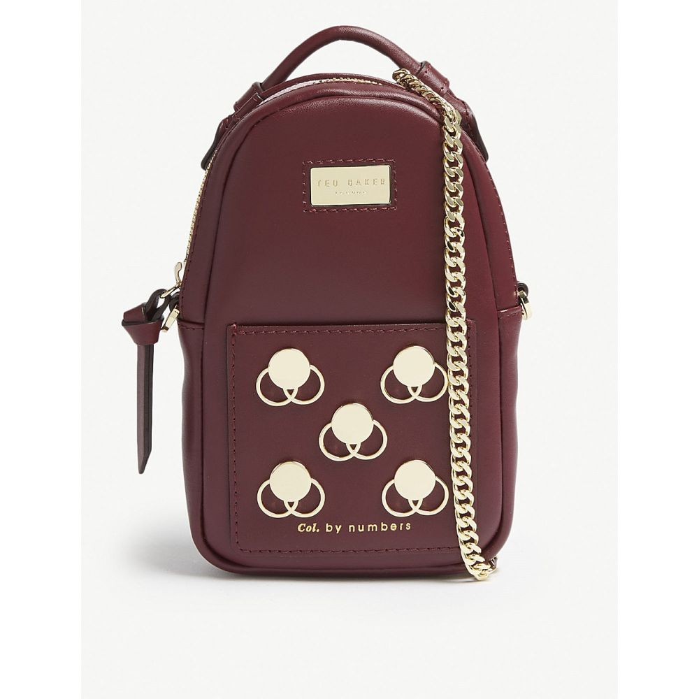 テッドベーカー ted baker レディース バッグ ボディバッグ・ウエストポーチ【emblem mini leather belt bag】Dark red