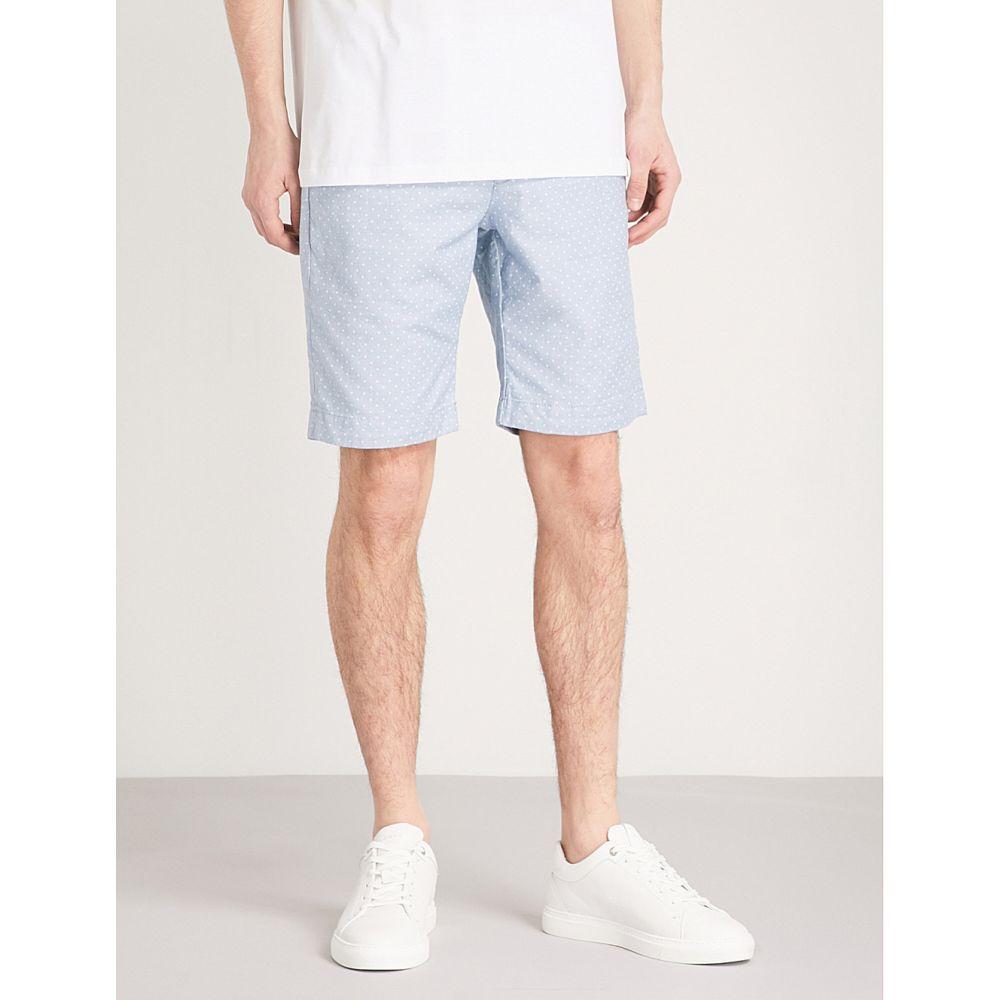 テッドベーカー ted baker メンズ ボトムス・パンツ ショートパンツ【gatman regular-fit cotton-blend shorts】Blue