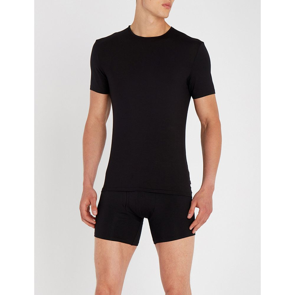 デリック ローズ derek rose メンズ メンズ トップス Tシャツ modal【alex modal トップス t-shirt】Black, SHELBY:83bb8e93 --- officewill.xsrv.jp