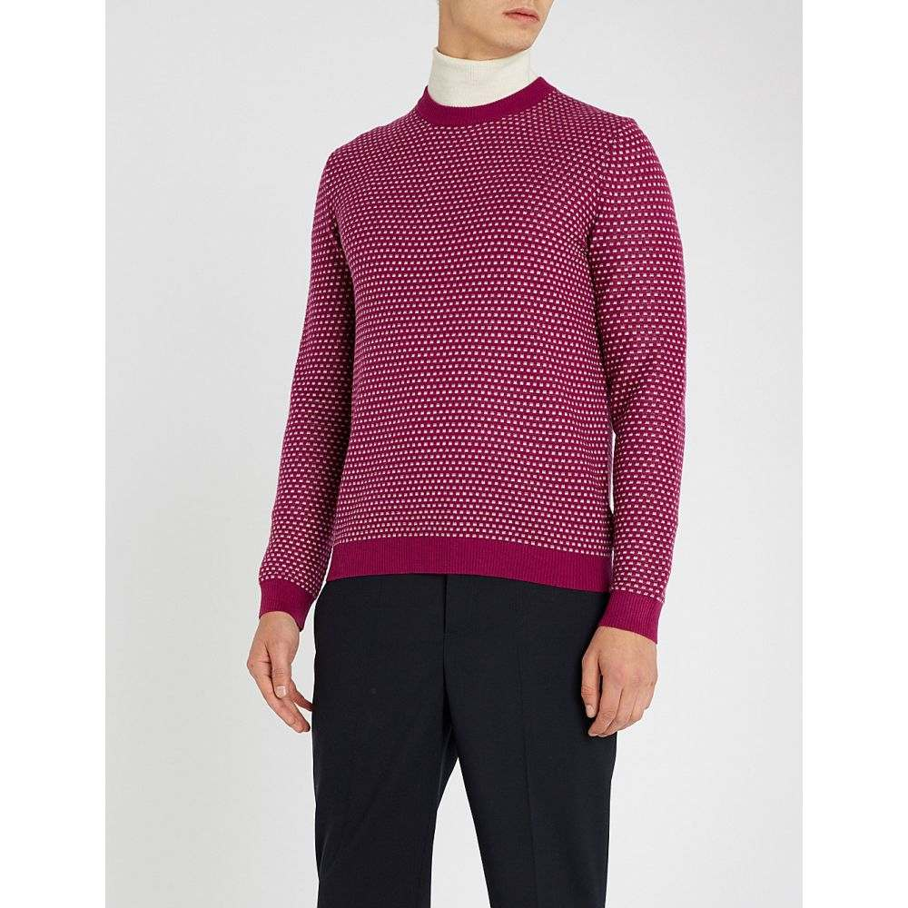 テッドベーカー ted baker メンズ トップス ニット・セーター【patterned knitted jumper】Pink