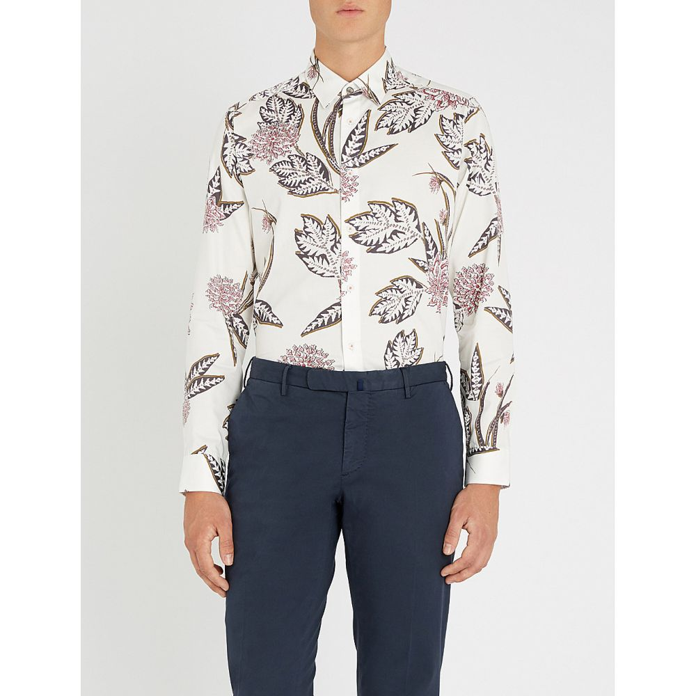 テッドベーカー ted baker メンズ トップス シャツ【notting floral-print regular-fit cotton shirt】White