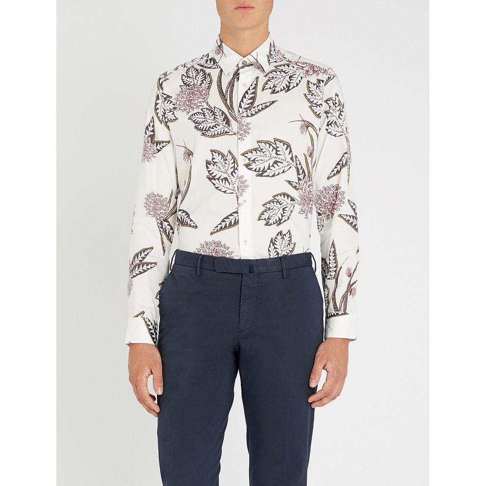 テッドベーカー ted baker メンズ トップス シャツ【notting floral-print regular-fit cotton shirt】White