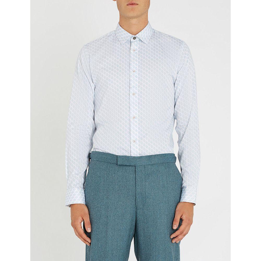 テッドベーカー ted baker メンズ トップス シャツ【pimlico geo-print regular-fit cotton shirt】Blue