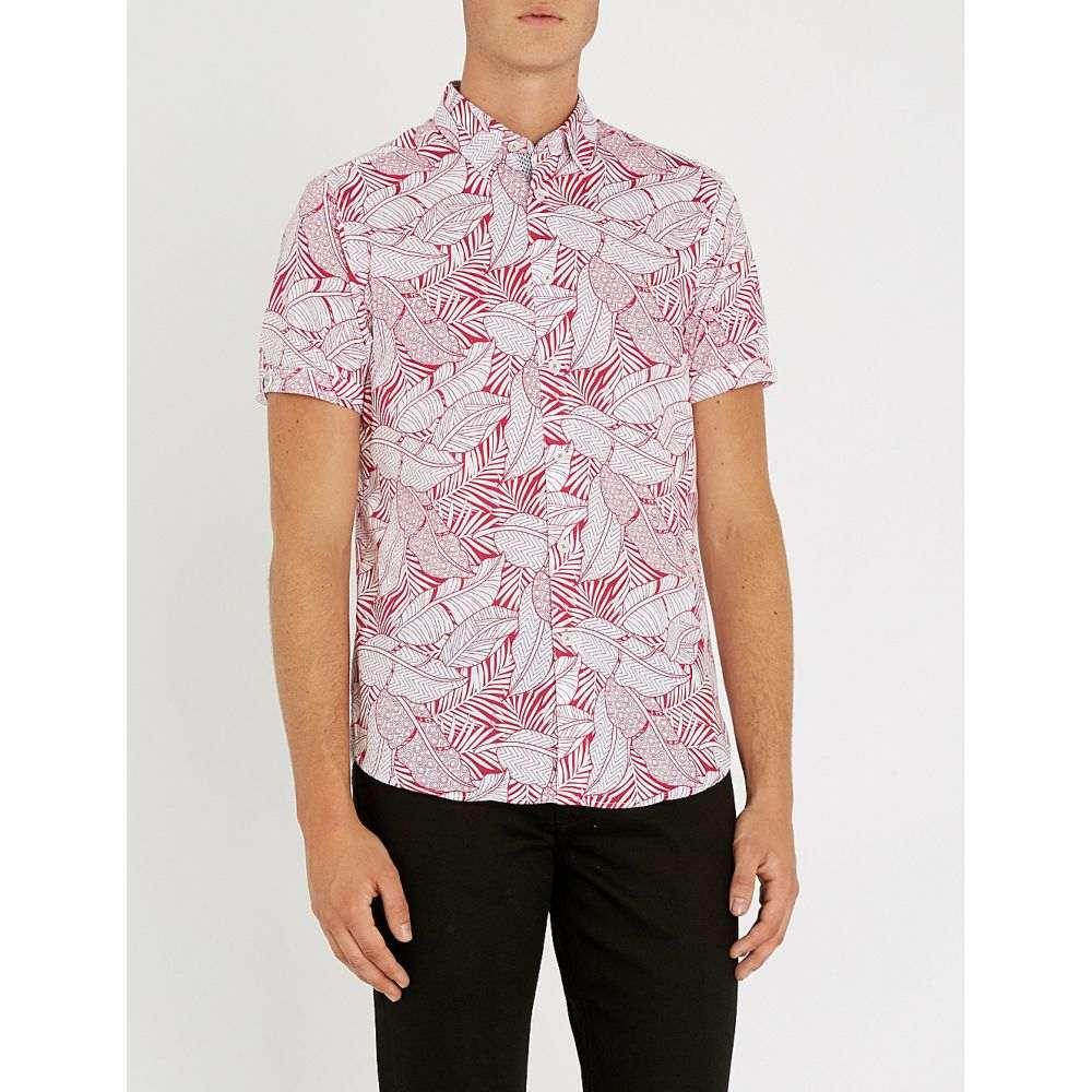 テッドベーカー ted baker メンズ トップス シャツ【foliage-print cotton shirt】Pink
