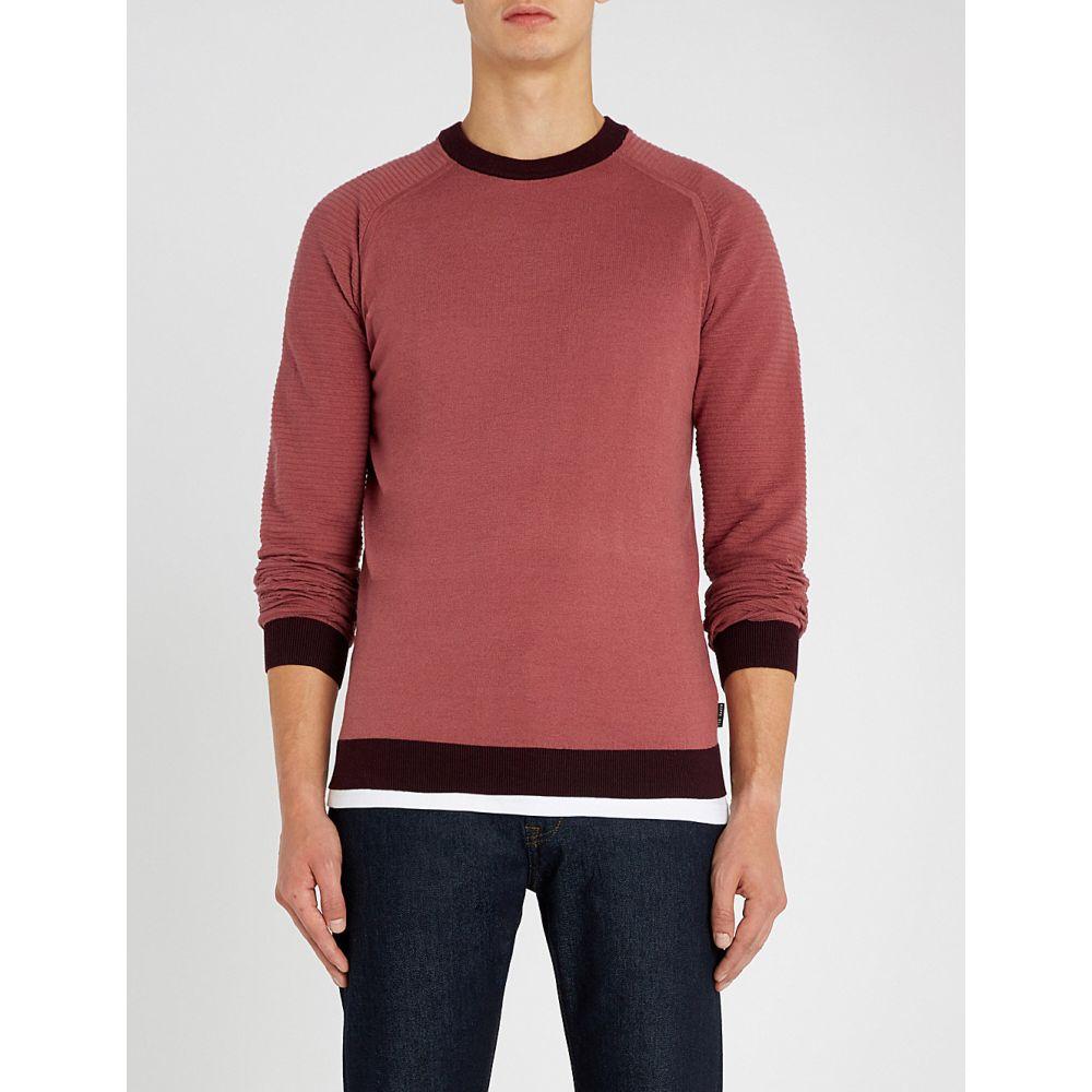 テッドベーカー ted baker メンズ トップス ニット・セーター【contrast-trim cotton-blend jumper】Pink