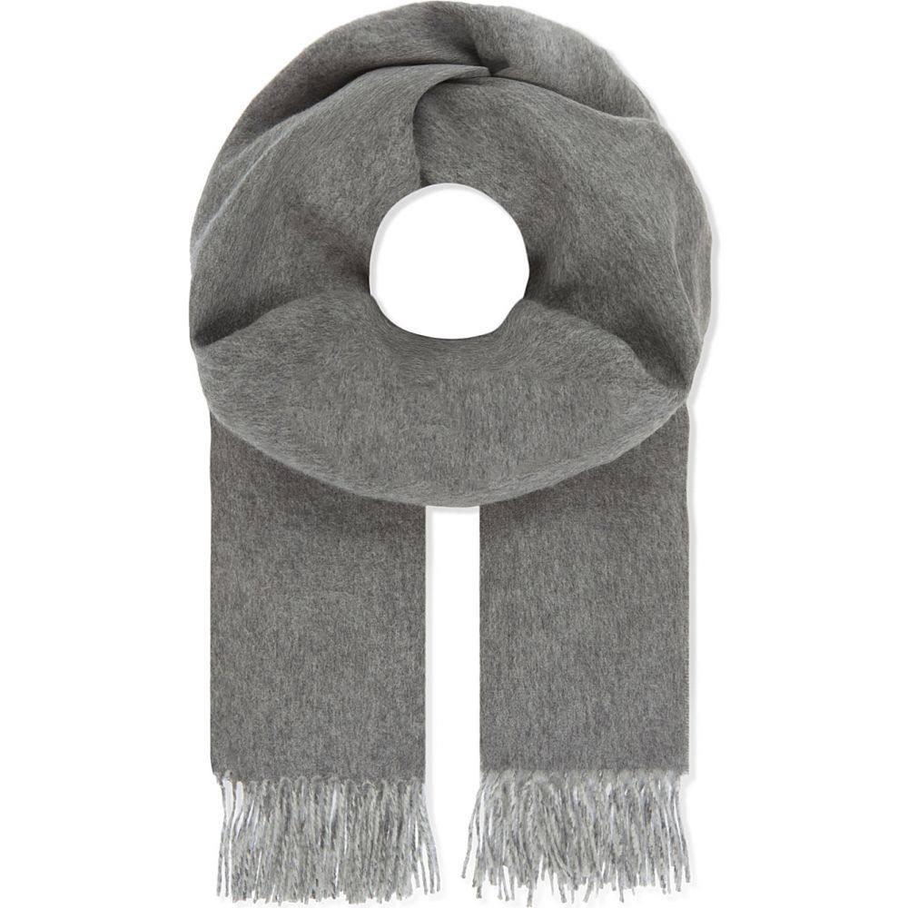 ジョンストンズ johnstons レディース マフラー・スカーフ・ストール【reversible cashmere scarf】Grey