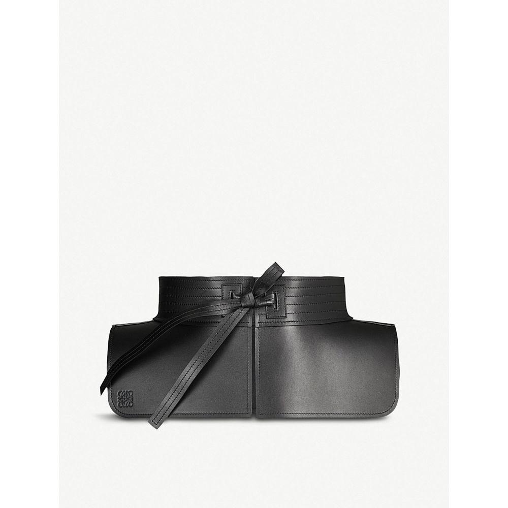 ロエベ loewe レディース ベルト【tie-detail leather obi belt】Black
