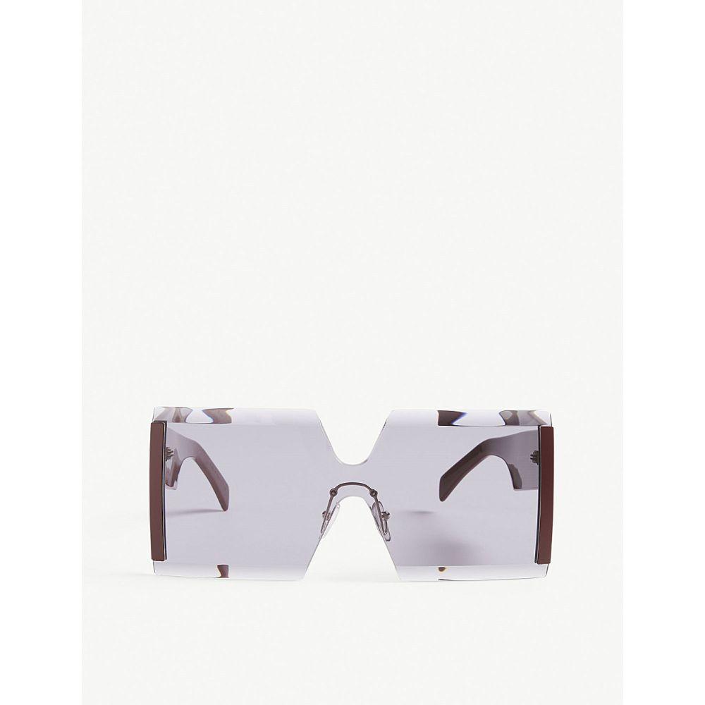 マルニ marni レディース メガネ・サングラス【me615s square-frame sunglasses】Bordeaux