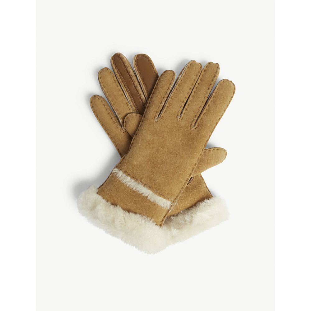 アグ ugg レディース 手袋・グローブ【turned-up sheepskin gloves】Chestnut