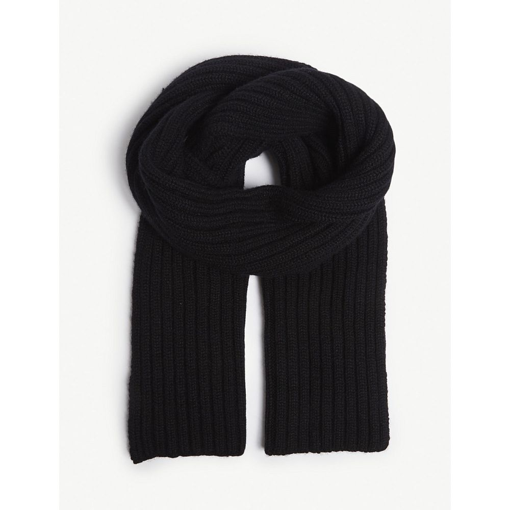 プリングル オブ スコットランド pringle of scotland レディース マフラー・スカーフ・ストール【ribbed scarf】Black