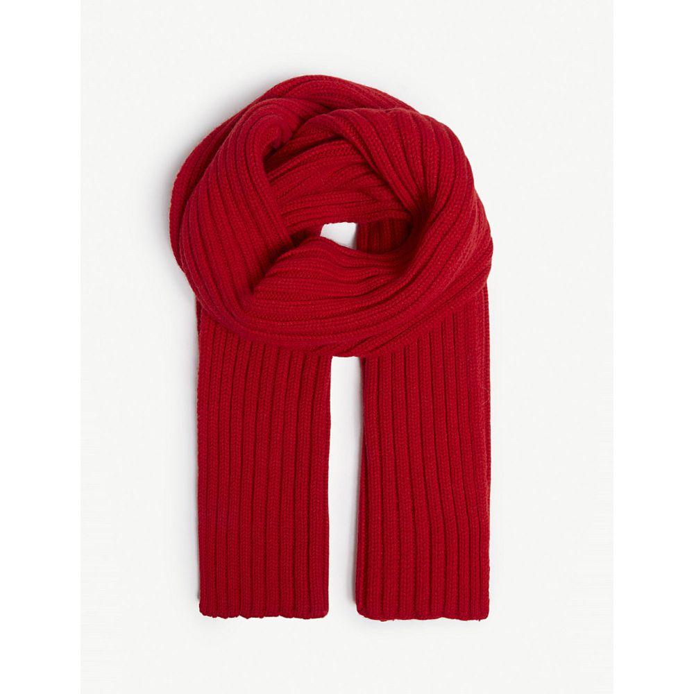 プリングル オブ スコットランド pringle of scotland レディース マフラー・スカーフ・ストール【ribbed scarf】Red