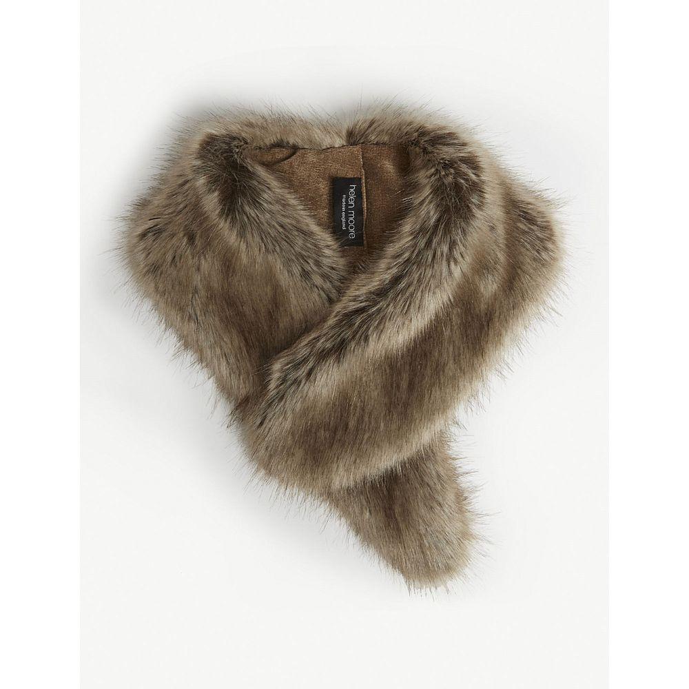 ヘレンムーア helen moore レディース マフラー・スカーフ・ストール【faux-fur collar】Truffle
