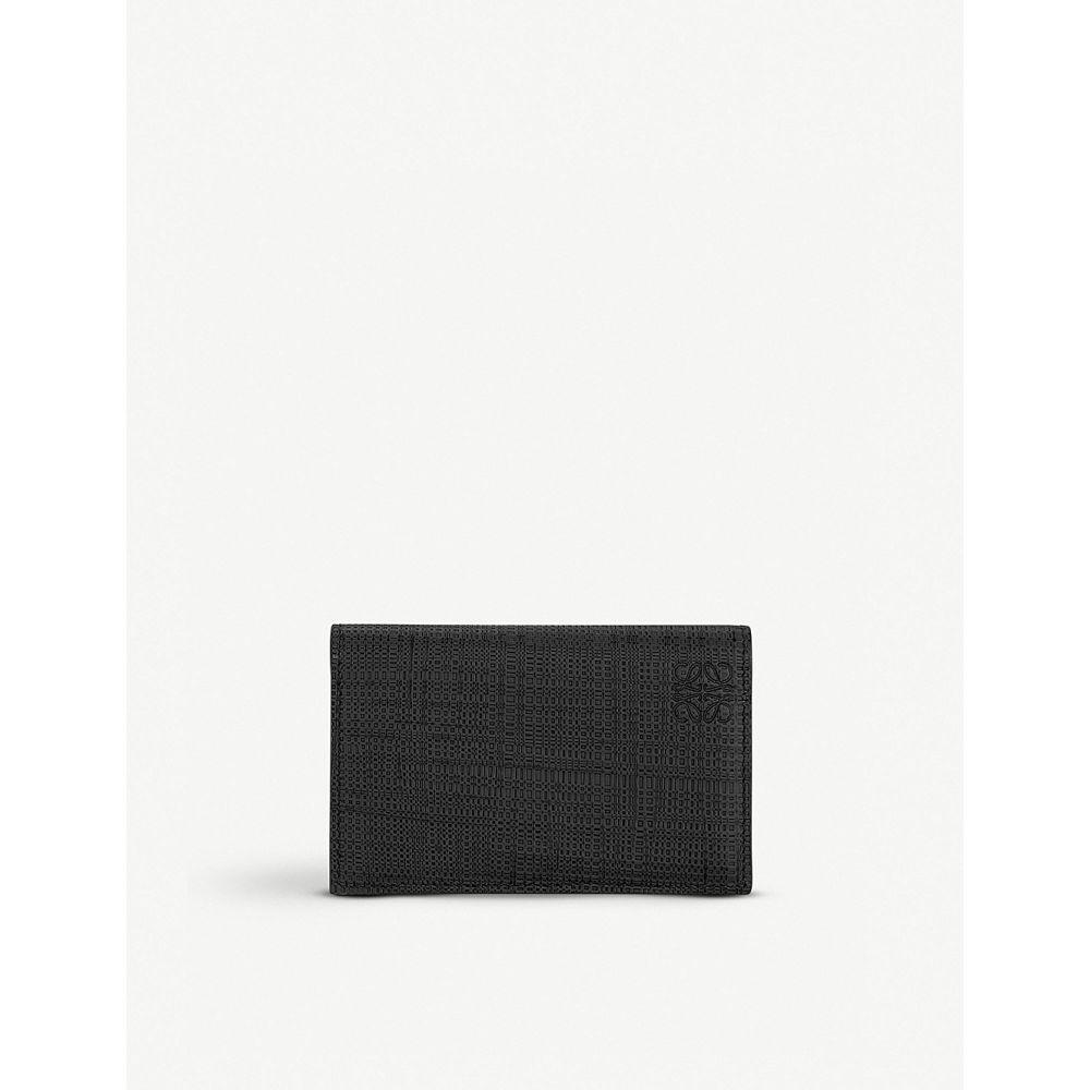 ロエベ loewe レディース カードケース・名刺入れ【textured leather business card holder】Black