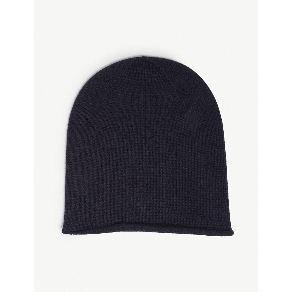 ジョンストンズ johnstons レディース 帽子【roll trim cashmere hat】Navy