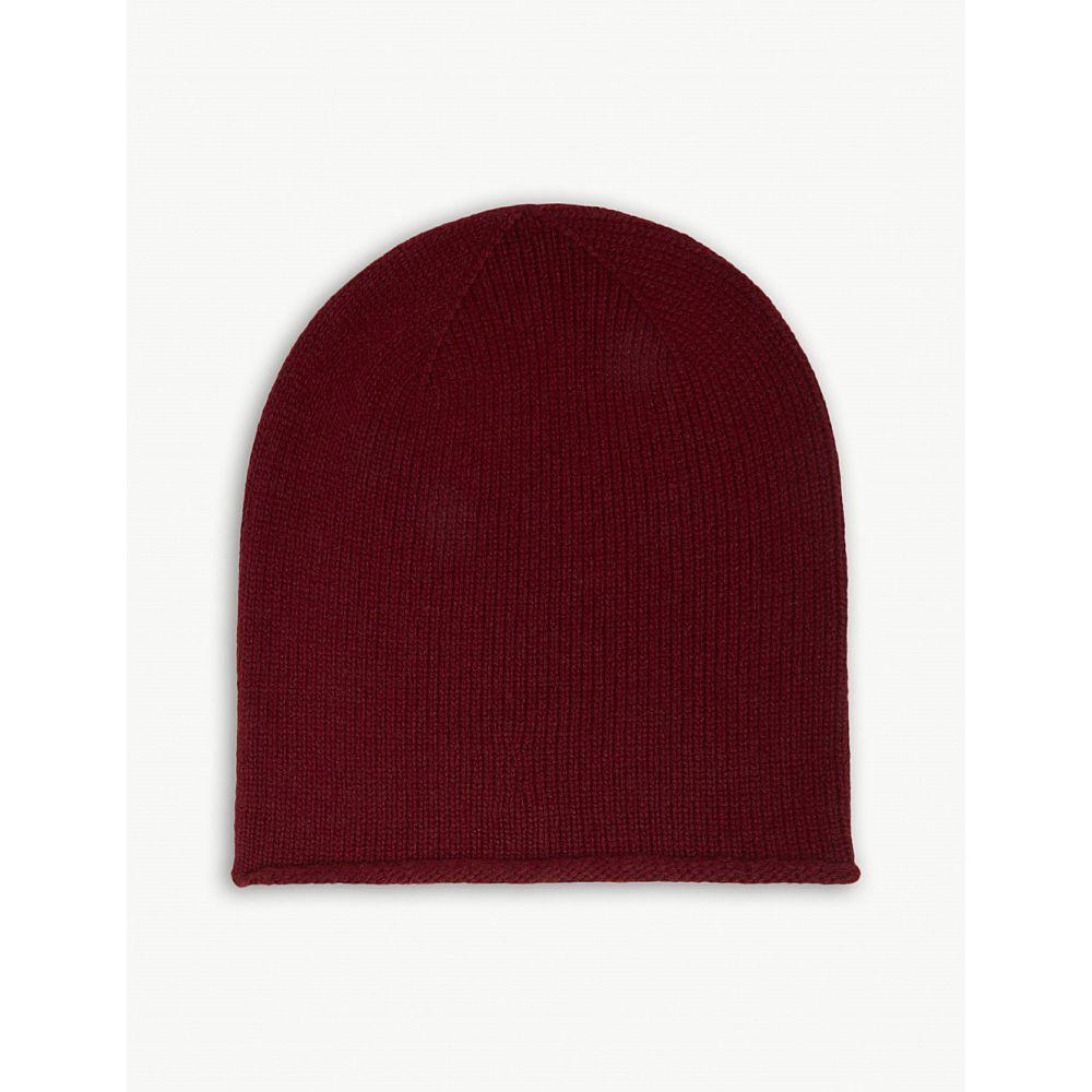 ジョンストンズ johnstons レディース 帽子【roll trim cashmere hat】Port