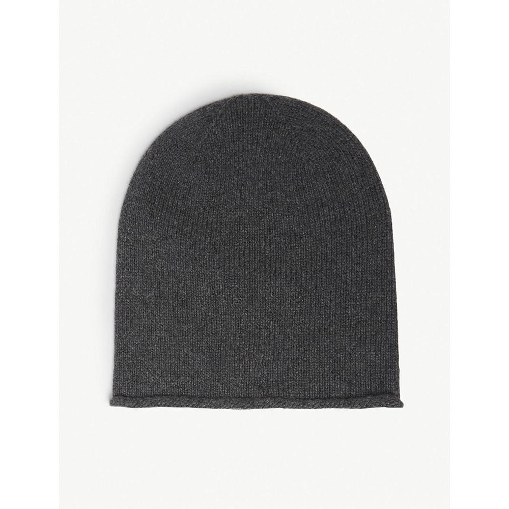ジョンストンズ johnstons レディース 帽子【roll trim cashmere hat】Mid grey